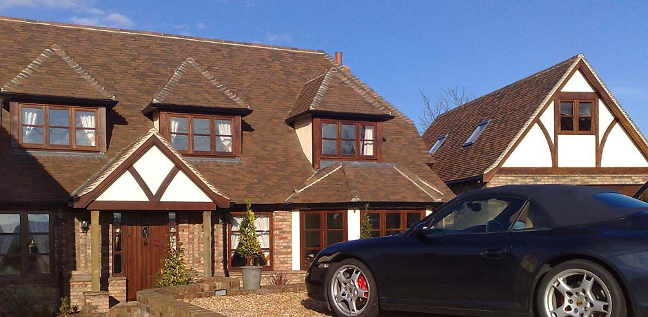 Brookhurst brown clay roof tiles