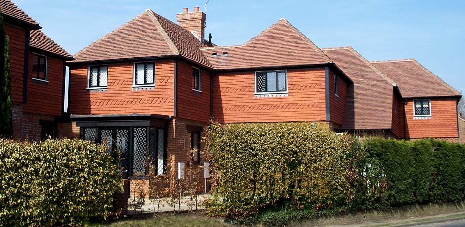 Brookhurst orange overhanging clay tiles