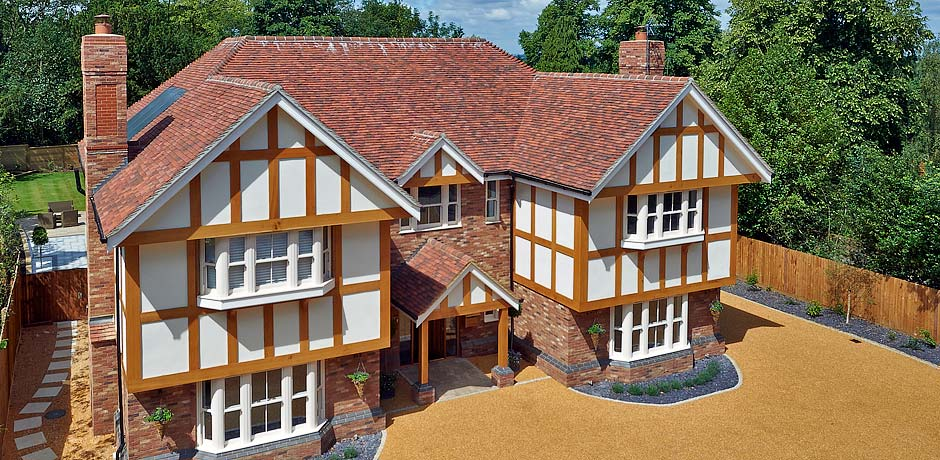 handmade clay roof tiles UK aerial