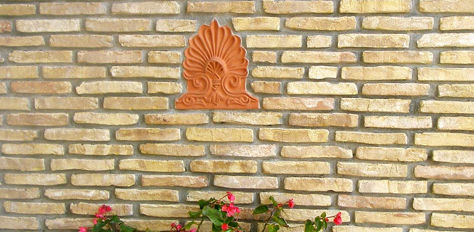 Clay facing bricks